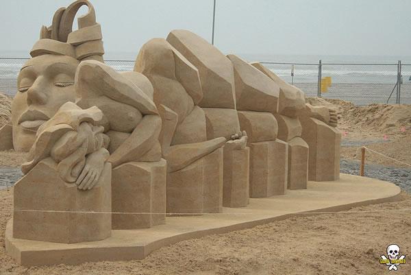 Sand Art Sculptures By Award Winning Sand Sculptor Carl Jara 3