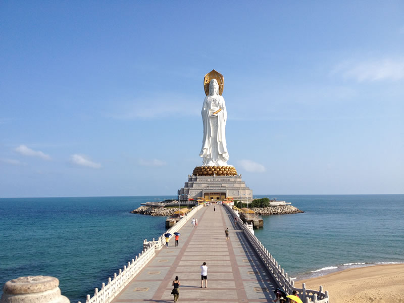 Guan Yin of the South Sea - 5 Biggest Outdoor Statues In The World