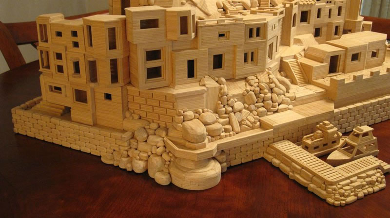Sculptures Made From Toothpicks (2)