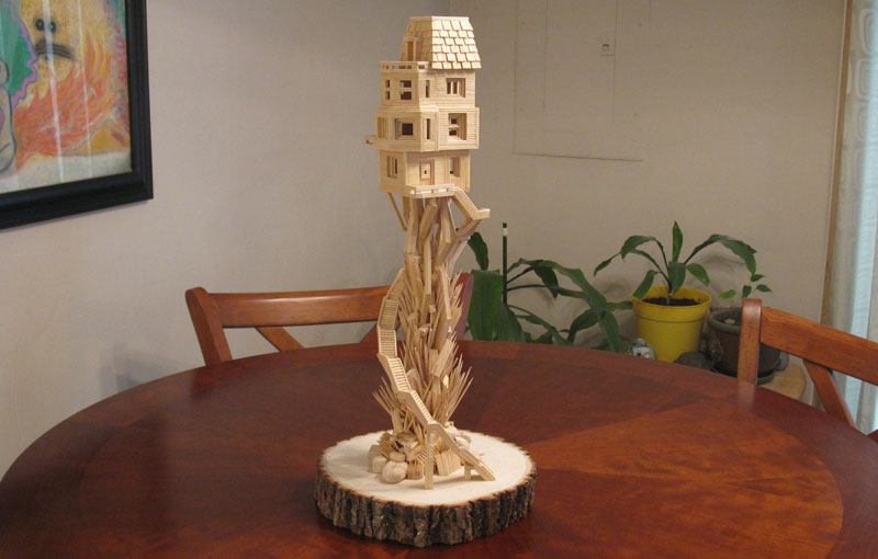 Sculptures Made From Toothpicks (5)