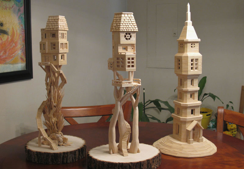 Sculptures Made From Toothpicks (7)