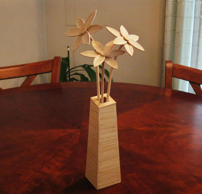 Sculptures Made From Toothpicks (8)