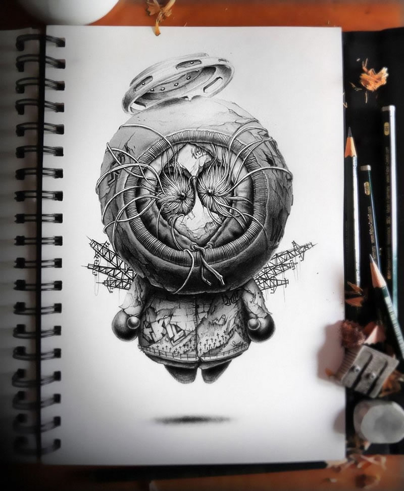 Amazing Drawings: Amazing Pencil Sketches By Graphic Designer PEZ