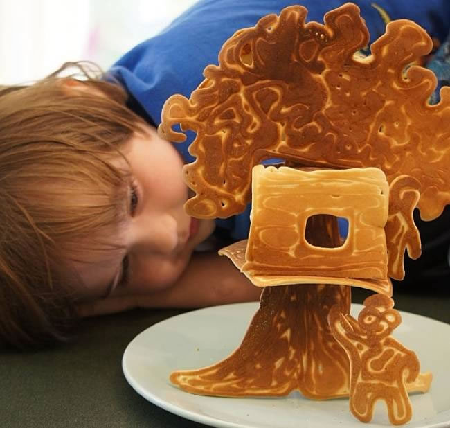 Dad creates Amazing Fun Pancakes For His Kids 1