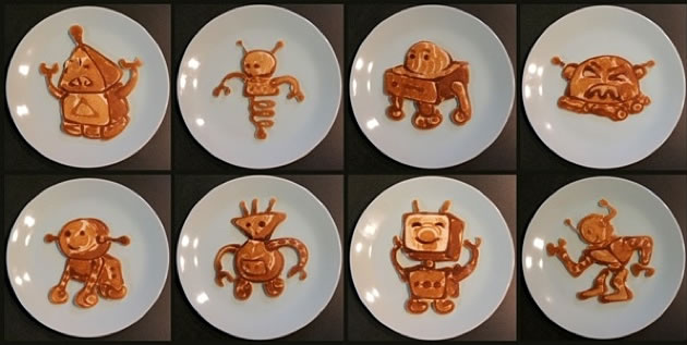 Dad creates Amazing Fun Pancakes For His Kids 12
