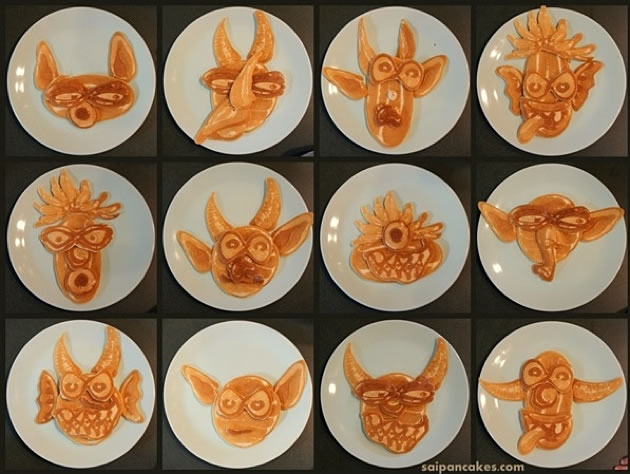Dad creates Amazing Fun Pancakes For His Kids 13