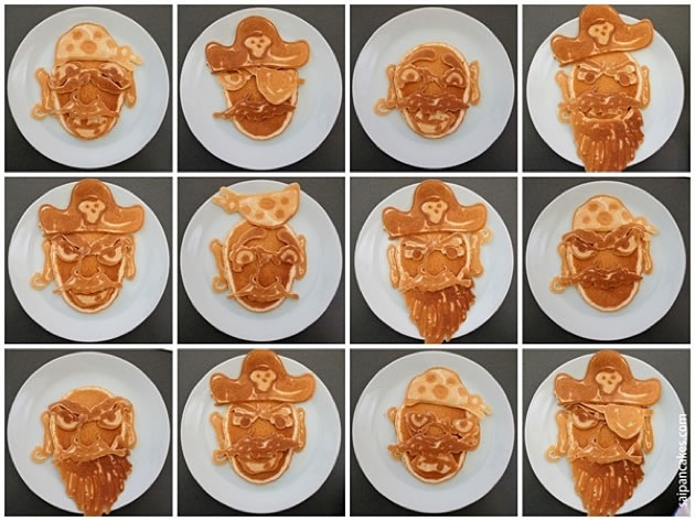 Dad creates Amazing Pancakes For His Kids 6