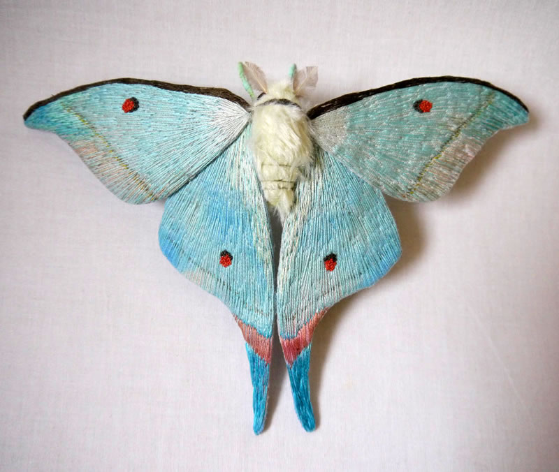 Embroidery Amazing Giant Moths And Butterflies (10)