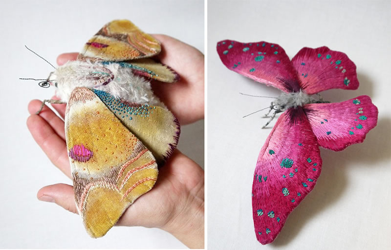 Embroidery Amazing Giant Moths And Butterflies (11)
