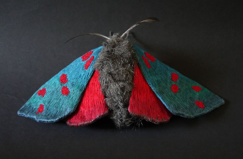 Embroidery Amazing Giant Moths And Butterflies (14)