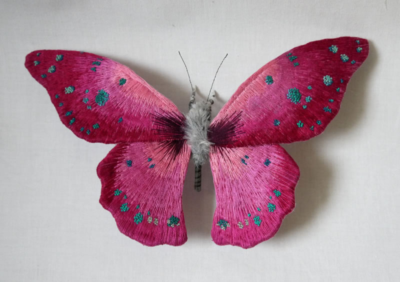 Embroidery Amazing Giant Moths And Butterflies (4)