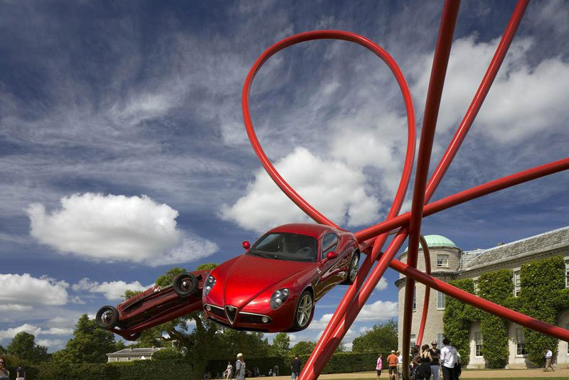 5 car sculptures Alfa Remoe