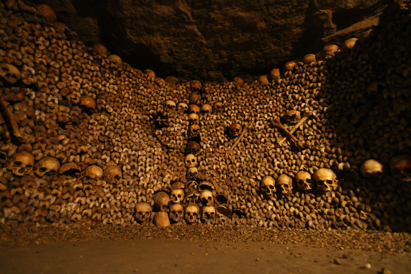 1 Paris Catacombs Haunted Places