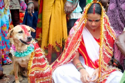 Indian Girl Marries Dog After Village Demand It