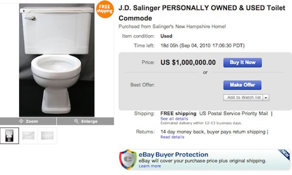 10 Weird Celebrity Things That Sold For Silly Money On eBay 2