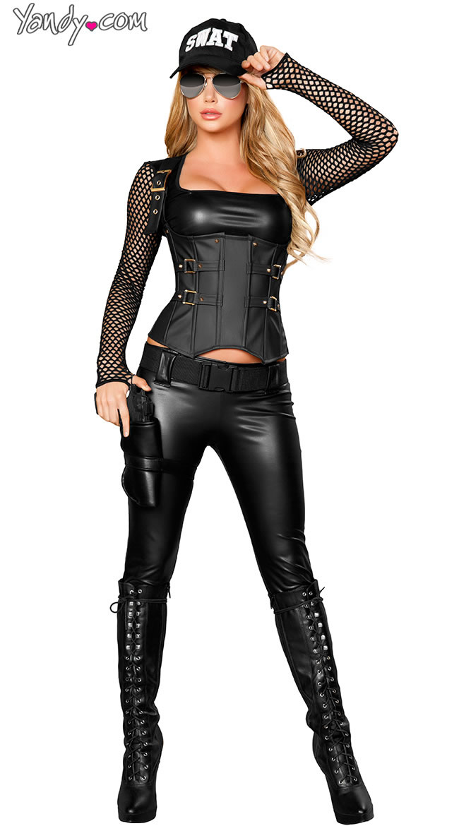 2 Deluxe Sexy SWAT Agent Costume - Sexy Halloween Costume Ideas