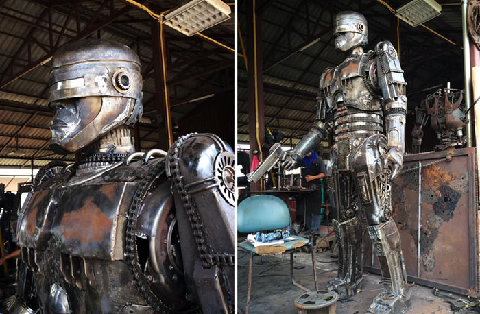 Awesome Movie Character Sculptures Made From Scrap Metal 9
