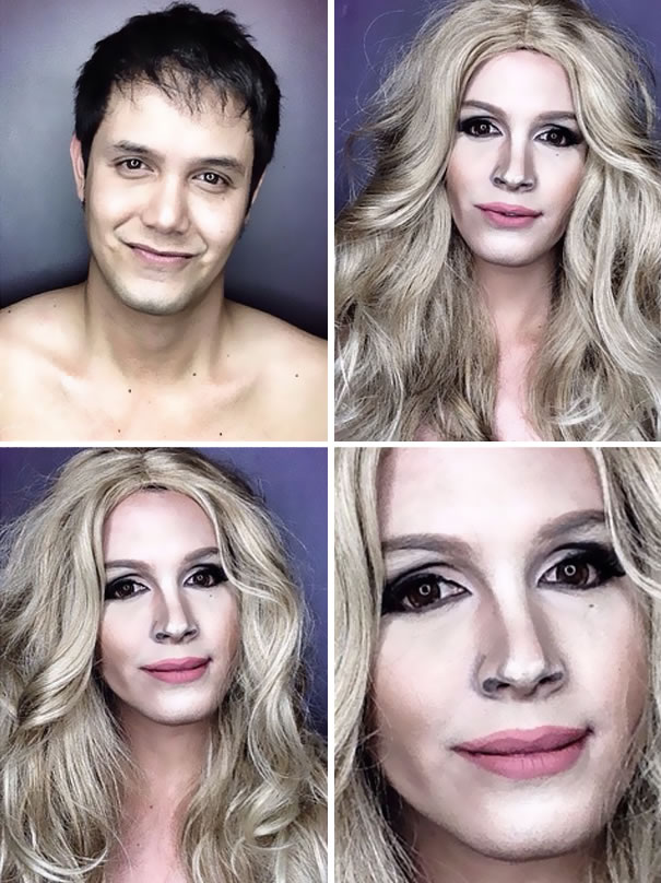 Professional Makeup Artist Transforms Into Hollywood Celebrities 1