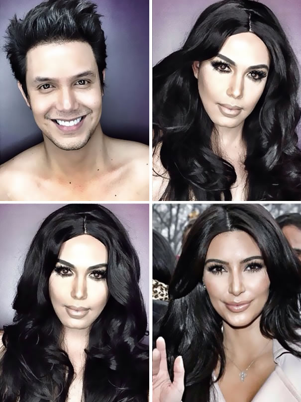Professional Makeup Artist Transforms Into Hollywood Celebrities 2