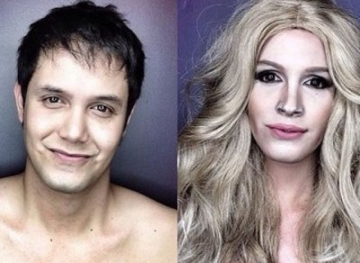 Professional Makeup Artist Transforms Into Hollywood Celebrities