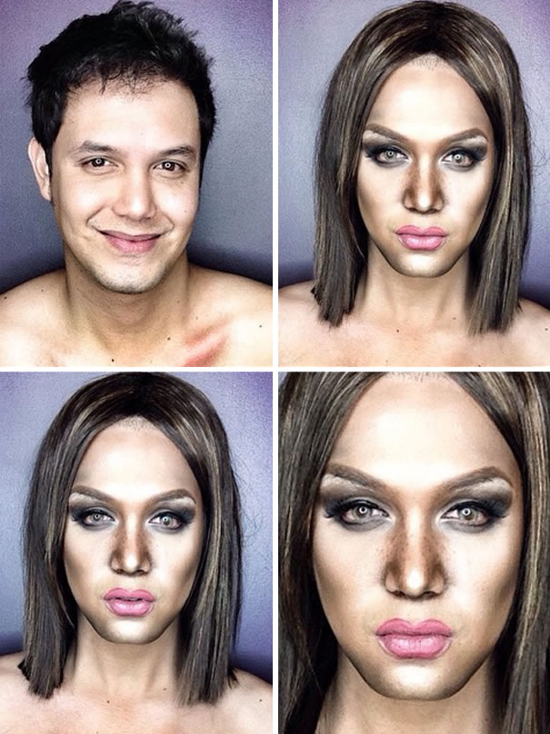Professional Makeup Artist Transforms Himself Into Hollywood Celebrities 6