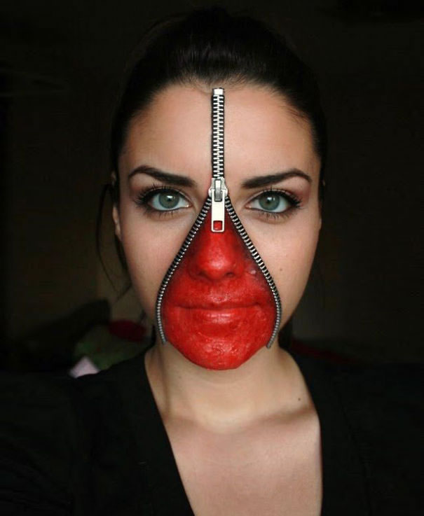 Scariest Halloween Make-up Ideas Face Off (1)