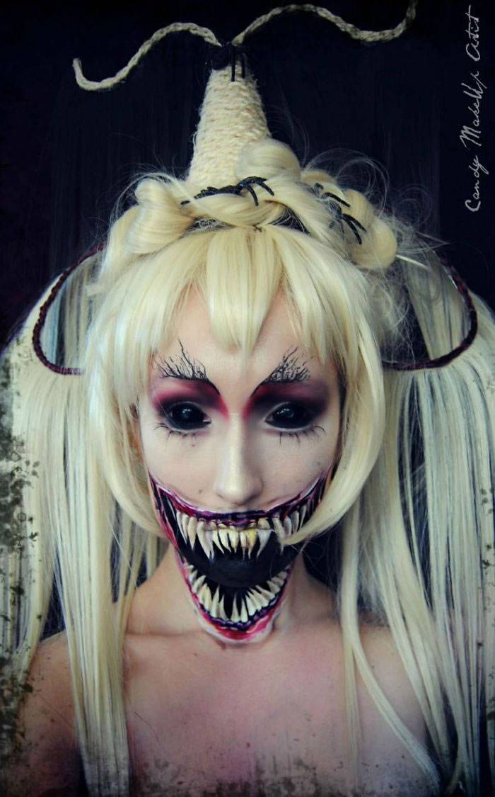 Scariest Halloween Make-up Ideas Face Off (2)