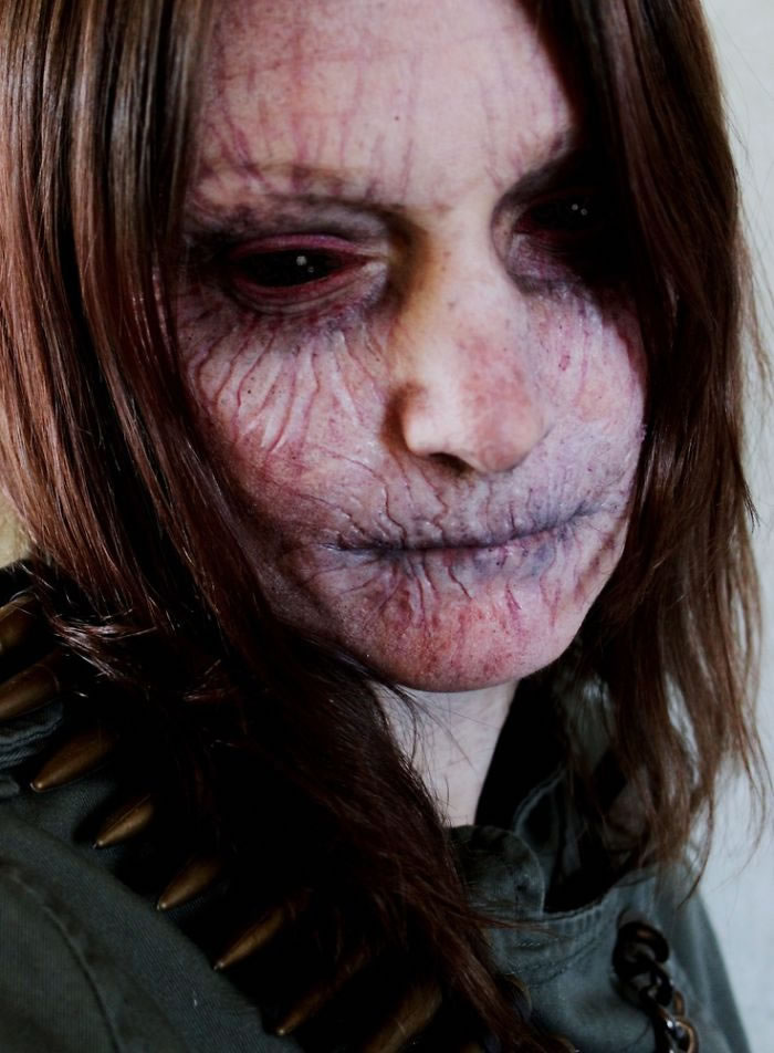 Scariest Halloween Make-up Ideas Face Off (3)