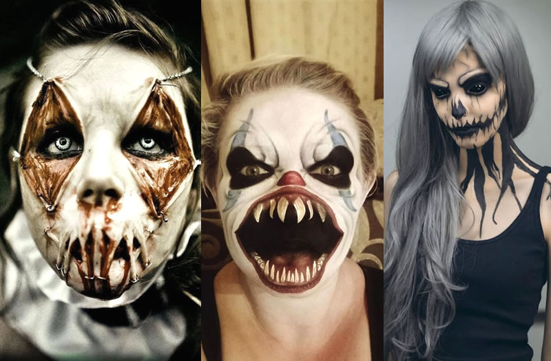 25 scariest halloween makeup ideas face off - Scary Faces For Halloween With Makeup
