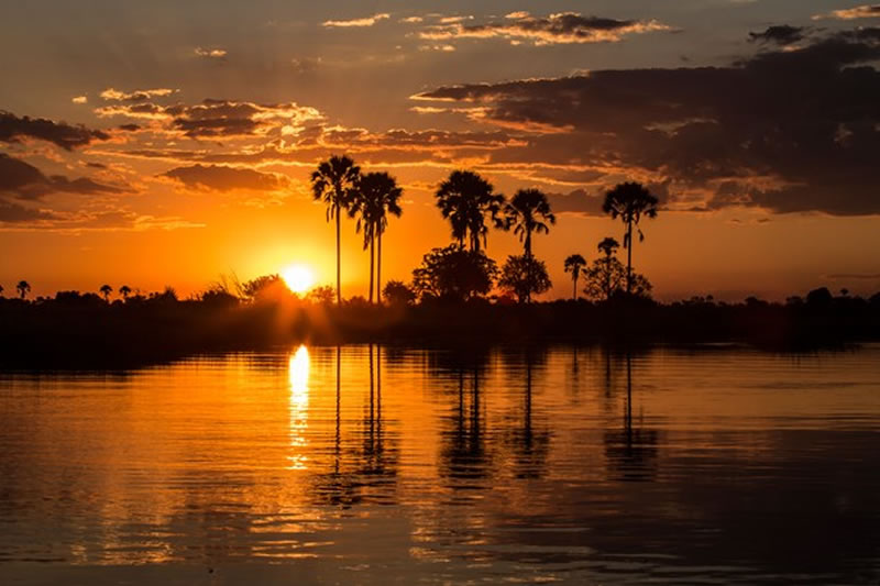 Sunset on the Okavango Delta - National Geographic Photo Contest 2014