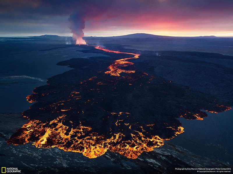 Volcanic Sunset - National Geographic Photo Contest 2014