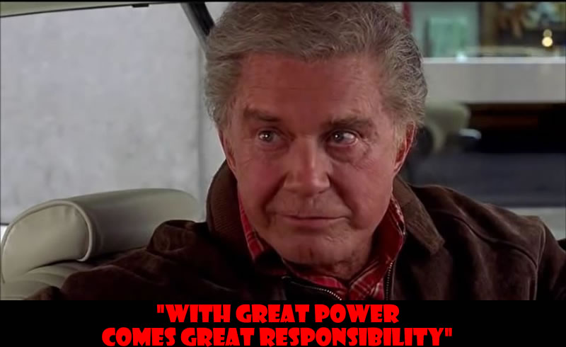 With great power comes great responsibility - 50 Of The Greatest Film Quotes Of All Time