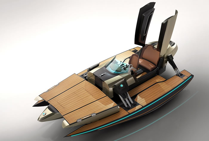 awesome luxury boat is a floating transformer that you'd love to own 4