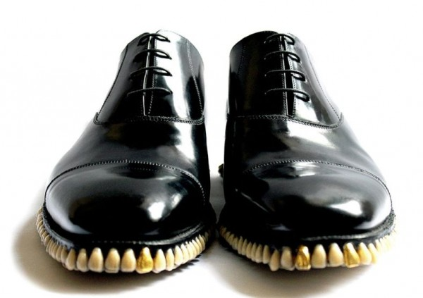 Custom Designer Shoes Get A Full Tooth Implant For Soles (2)