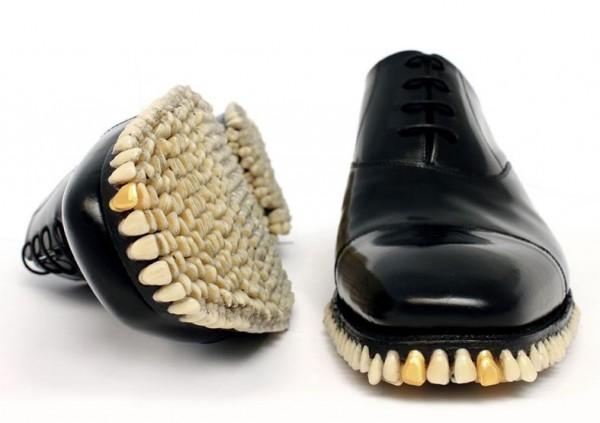 Custom Designer Shoes Get A Full Tooth Implant For Soles (3)