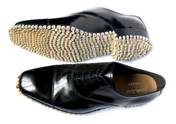 Custom Designer Shoes Get A Full Tooth Implant For Soles (4)