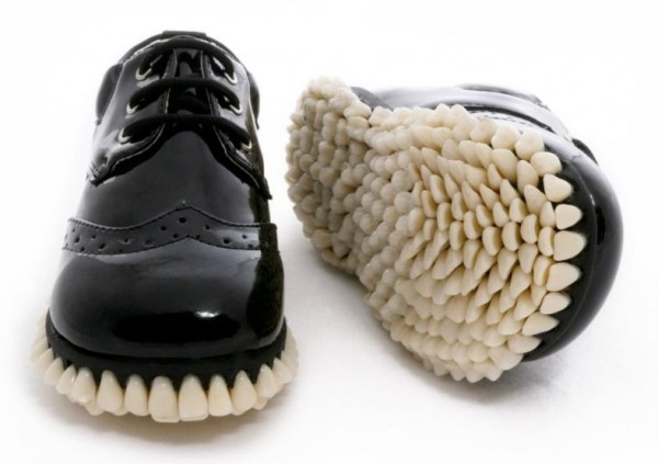 Custom Designer Shoes Get A Full Tooth Implant For Soles (5)