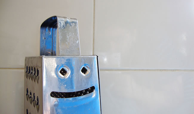 cheese grater with a face