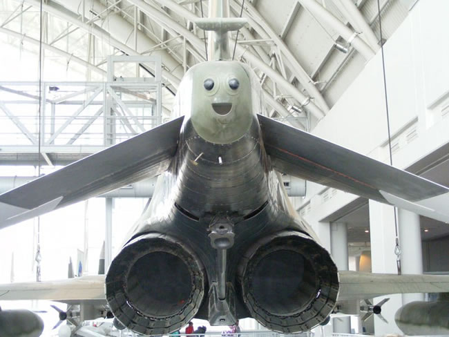 plane with a face
