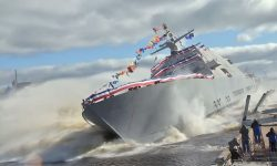 Watch A Combat Ship Get Dropped Into The Sea On It's Launch