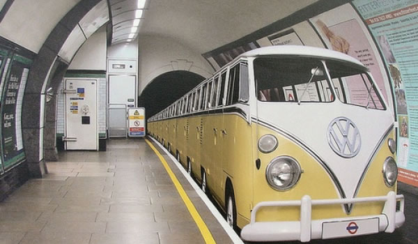 VW Bus Camper Subway Train Is SO Cool