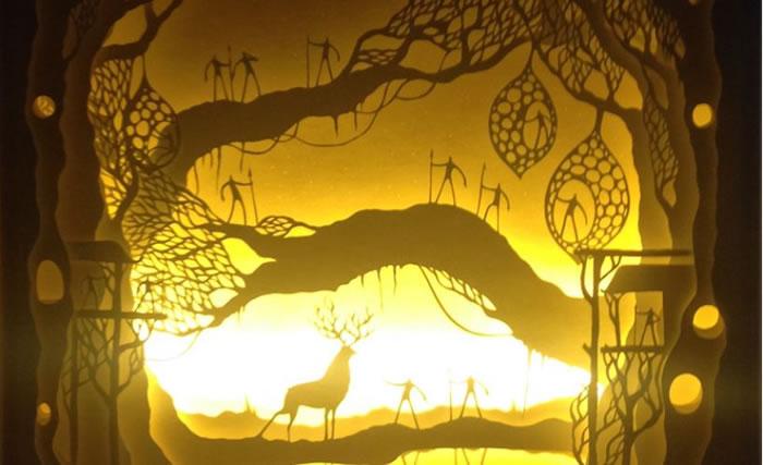 Paper Cut Light Box Fairytale Art Posters