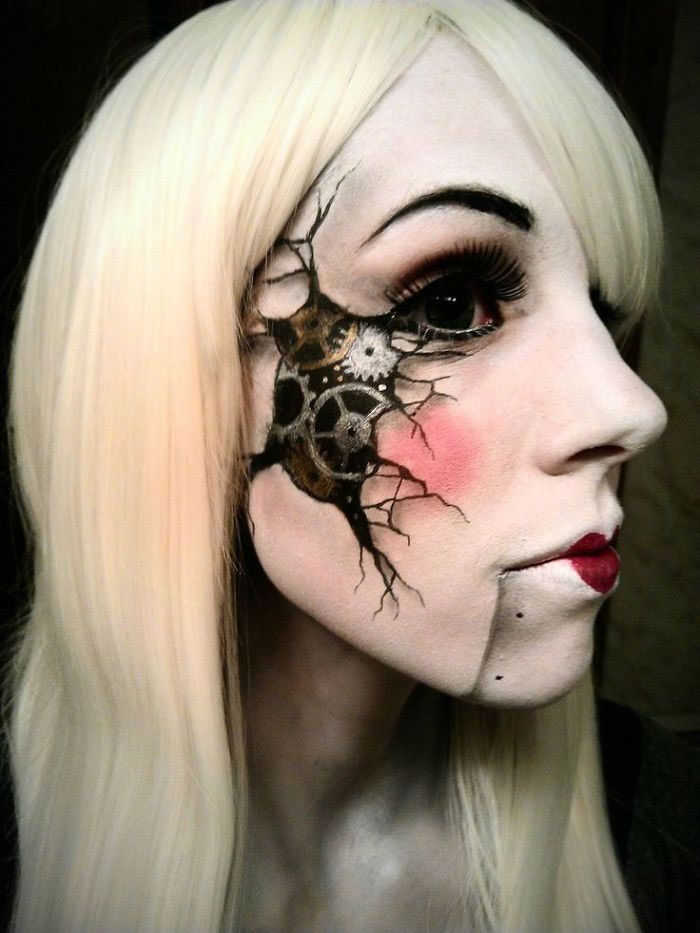 Scariest Halloween Make-up Ideas Face Off (7)